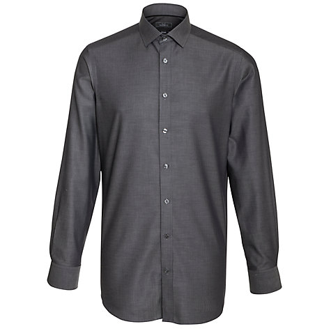 Buy John Lewis Easy Care Tailored Herringbone Long Sleeve Shirt Online at johnlewis.com