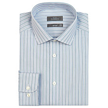 Buy John Lewis Tailored Fit Rib Stripe Long Sleeve Shirt Online at johnlewis.com