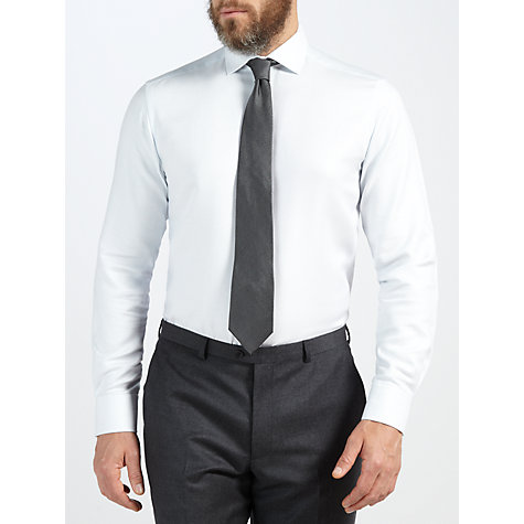 Buy John Lewis Tailored Fit Dobby Long Sleeve Shirt Online at johnlewis.com