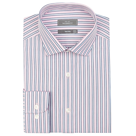 Buy John Lewis Tailored Fit Stripe XL Sleeve Shirt Online at johnlewis.com
