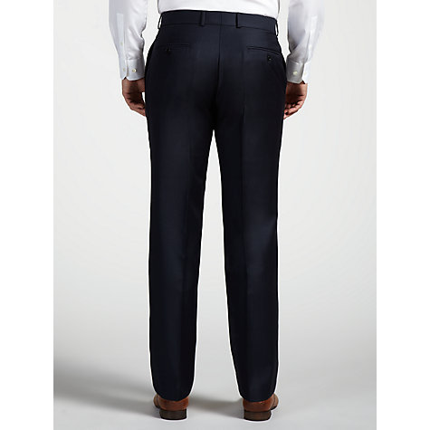 Buy John Lewis Woven in England Semi Plain Suit Trousers, Navy Online at johnlewis.com