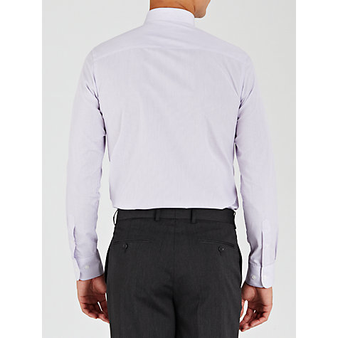 Buy John Lewis Easy Care Hairline Stripe XL Sleeve Shirt, Lilac Online at johnlewis.com