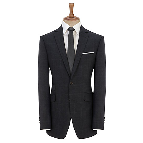 Buy John Lewis Tailored Check Suit Jacket, Blue/Grey Online at johnlewis.com