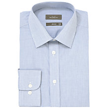 Buy John Lewis Fine Check Tailored Fit XL Sleeve Shirt, Navy Online at johnlewis.com