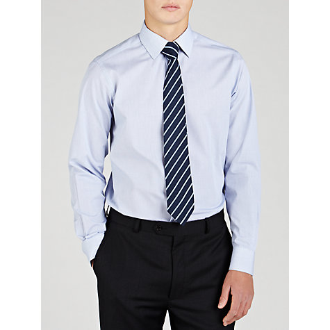 Buy John Lewis Fine Check Shirt, Navy Online at johnlewis.com