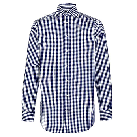 Buy John Lewis Large Gingham Check Long Sleeve Shirt Online at johnlewis.com