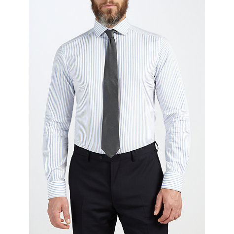 Buy John Lewis Tailored Rope Stripe Long Sleeve Shirt Online at johnlewis.com