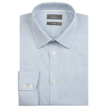Buy John Lewis Tailored Easy Care Long Sleeve Shirt, Blue Online at johnlewis.com