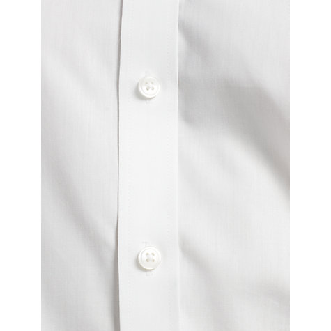 Buy John Lewis Poplin Long Sleeve Tailored Fit Shirt, White Online at johnlewis.com