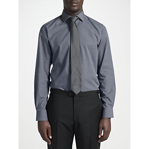 Buy John Lewis Tailored End on End Weave Long Sleeve Shirt Online at johnlewis.com