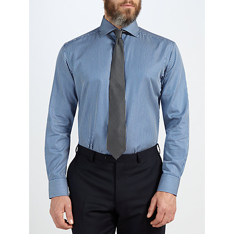Buy John Lewis Classic Satin Twill Stripe Long Sleeve Shirt Online at johnlewis.com