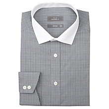Buy John Lewis Tailored Check Contrast Collar Long Sleeve Shirt Online at johnlewis.com
