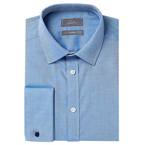 Buy John Lewis Rib Twill Tailored Double Cuff Shirt Online at johnlewis.com