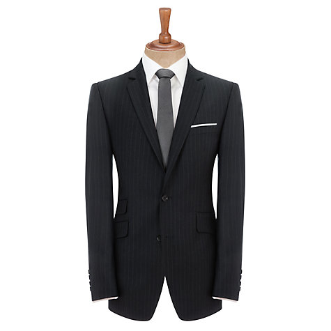 Buy John Lewis Woven in England Tailored Stripe Suit Jacket, Navy Online at johnlewis.com