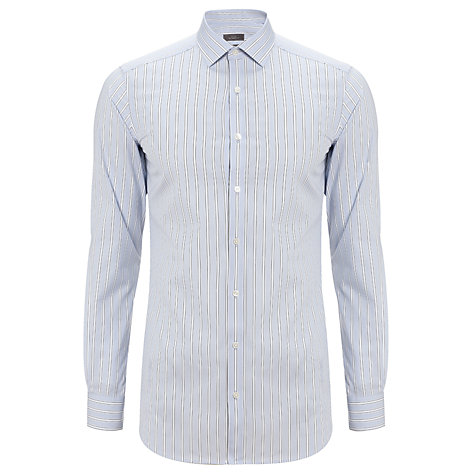 Buy John Lewis Tailored Fit Stripe Long Sleeve Shirt Online at johnlewis.com