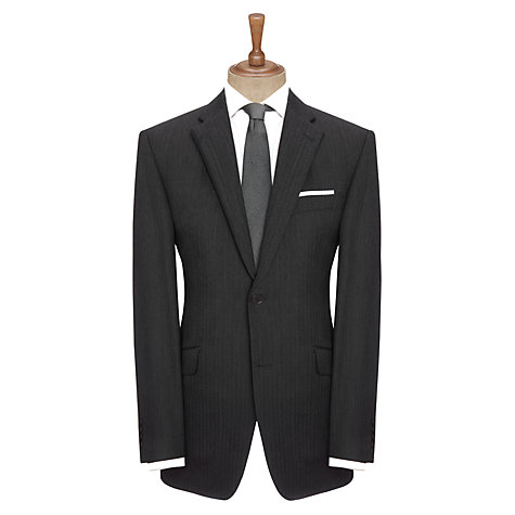 Buy John Lewis Woven in England Herringbone Suit Jacket, Grey Online at johnlewis.com