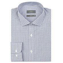 Buy John Lewis Tailored Fit Micro Check Long Sleeve Shirt Online at johnlewis.com