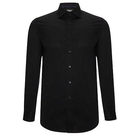 Buy John Lewis Tailored Self Stripe Long Sleeve Shirt Online at johnlewis.com