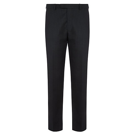 Buy John Lewis Woven in England Tailored Stripe Suit Trousers, Navy Online at johnlewis.com