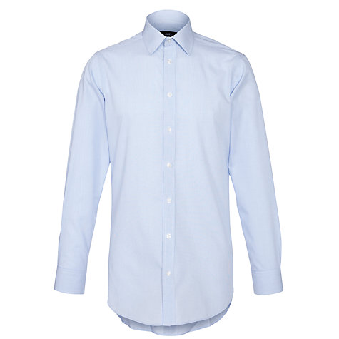 Buy John Lewis Easy Care Fine Check XL Sleeve Shirt Online at johnlewis.com