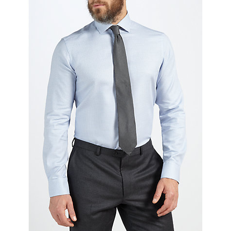 Buy John Lewis Tailored Fit Twill Puppytooth Long Sleeve Shirt Online at johnlewis.com