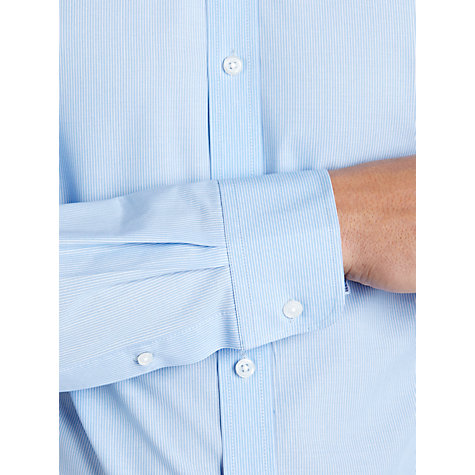 Buy John Lewis Fine Stripe XL Sleeve Shirt, Blue Online at johnlewis.com