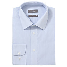 Buy John Lewis Hairline Stripe XL Sleeve Tailored Fit Shirt, Blue Online at johnlewis.com