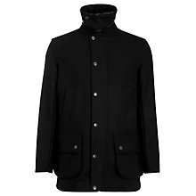 Buy Barbour Ackergill Wool Jacket, Black Online at johnlewis.com