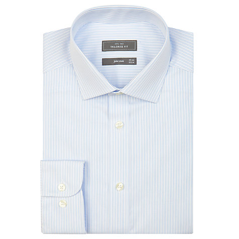 Buy John Lewis Tailored Fit Fine Stripe Long Sleeve Shirt Online at johnlewis.com