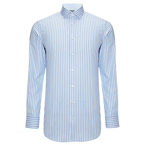 Buy John Lewis Tailored Oxford Stripe Long Sleeve Shirt Online at johnlewis.com