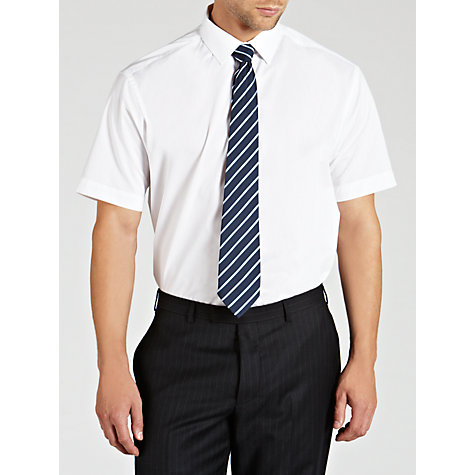 Buy John Lewis Easy Care Poplin Short Sleeve Shirt Online at johnlewis.com
