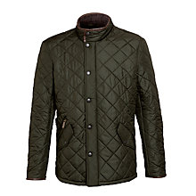 Buy Barbour Powell Quilted Jacket, Green Online at johnlewis.com