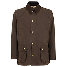 Buy Barbour Leedale Waxed Jacket, Brown Online at johnlewis.com