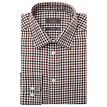 Buy John Lewis Brushed Cotton Gingham Check Long Sleeve Shirt, Brown Online at johnlewis.com