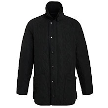 Buy Barbour Polarquilt Coat, Black Online at johnlewis.com