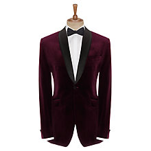 Buy John Lewis Velvet Shawl Collar Dinner Jacket, Claret Online at johnlewis.com
