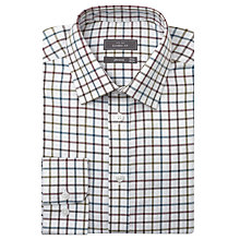 Buy John Lewis Brushed Cotton Open Check Long Sleeve Shirt, Khaki Online at johnlewis.com