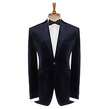 Buy John Lewis Velvet Peak Lapel Dinner Jacket, Midnight Blue Online at johnlewis.com