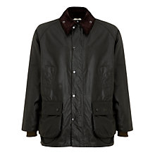 Buy Barbour Waxed Cotton Bedale Jacket, Sage Online at johnlewis.com