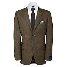 Buy Ted Baker Fieldz Check Blazer, Green Online at johnlewis.com