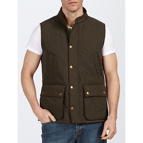 Buy Barbour Greenshore Quilted Gilet, Olive Online at johnlewis.com