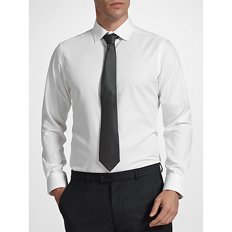 Buy John Lewis Tailored Non-Iron Self Stripe Long Sleeve Shirt Online at johnlewis.com