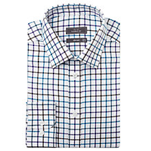 Buy John Lewis Brushed Cotton Open Check Long Sleeve Shirt, Jade Online at johnlewis.com