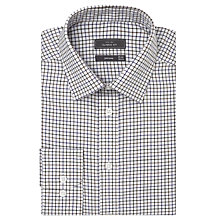 Buy John Lewis Brushed Cotton Check Long Sleeve Shirt, Purple Online at johnlewis.com