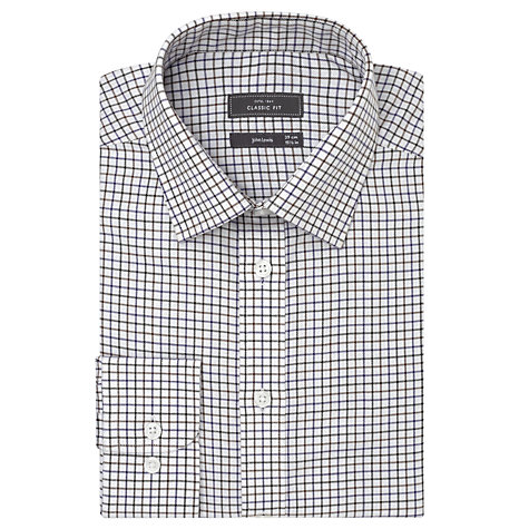 Buy John Lewis Brushed Cotton Check Long Sleeve Shirt Online at johnlewis.com