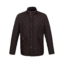 Buy Barbour Powell Funnel Neck Jacket, Dark Brown Online at johnlewis.com