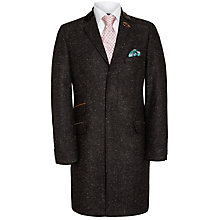 Buy Ted Baker Endurance Tightlines Spekz Wool Coat, Brown Online at johnlewis.com