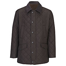 Buy Barbour Bardon Quilted Jacket, Brown Online at johnlewis.com