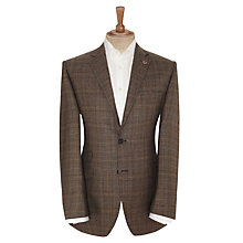 Buy Paul Costelloe Gleen Check Jacket, Brown Online at johnlewis.com
