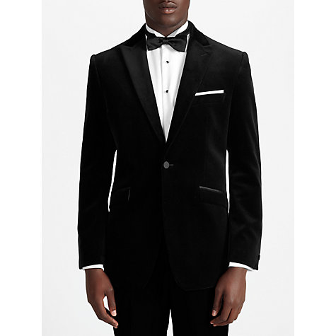Buy John Lewis Velvet Peak Lapel Dinner Jacket, Black Online at johnlewis.com